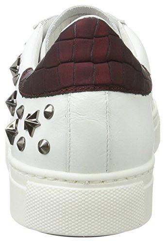 Baskets Stokton, Baskets Basses Pour Femme (blanc / Mauve)