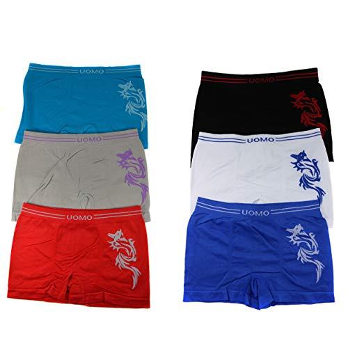 6er Pack Jungen Mikrofaser Boxershorts Kinder Unterhosen Kids Unterwäsche Größe 110-152 A.K-08 (110-116)