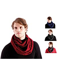 10 Pack Mens/Gentlemens (Warehouse Clearance) Snoods Jacquard Knitted, Green