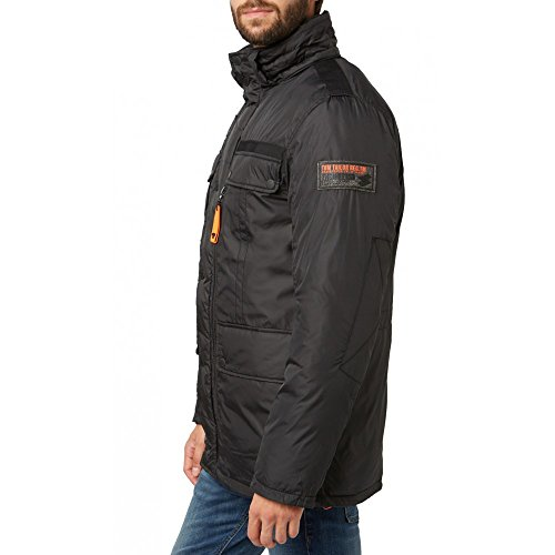 Tom Tailor für Männer Jacket Parka mit abnehmbarer Kapuze Schwarz