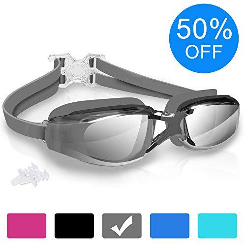 Arteesol Schwimmenbrille für Erwachsene Swimming Goggles 100% UV-Schutz Schwimmenbrillen für Herren und Damen Anti-Fog 180° Panoramasicht mit Schutzhülle und Ohrstöpsel -