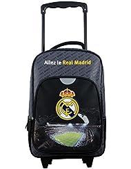 Real Madrid - mochila con ruedas para niños, azul, 40cm