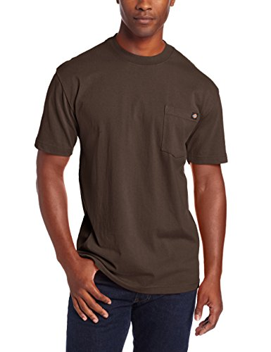 Dickies - - Herren WS450 Heavyweight Crew Neck T, 3X-Large, Chocolate Brown (Heavyweight Pocket T-shirt)