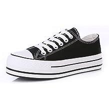 scarpe di tela donne Classic/scarpe casual/Solid scarpe piattaforma fondo pesante/Scarpe bianche studenti marea