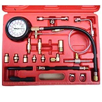 TOOGOO 140Psi Fuel Injector Pressure Tester Werkzeug Manometer Auto Einspritzung Benzin Gas Test -
