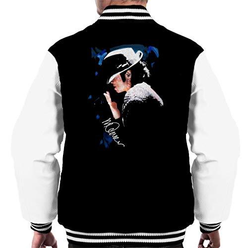 VINTRO Michael Jackson Gespitzte Hut Männer Varsity Jacke Original-Porträt von Sidney Maurer (Roter Scharfer Chili,M) (Jackson Rot Michael Jacke)