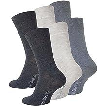 b54bd109913 Lot de 6 paires de chaussettes - coton - homme - camaïeu de gris- taille