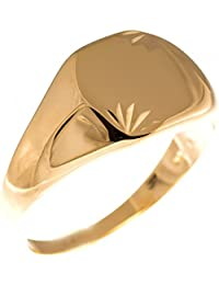 Isady – Amazing Gold - Men's Ring Ladies Ring - 18ct Yellow Gold Plated – FREE Engraving - Engravable