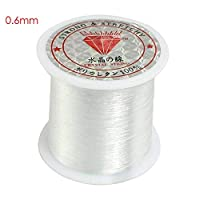 Walmeck Transparent fishing line nylon hand-woven crystal beaded diy material jewelry accessories wholesale Crystal fish line 0.6mm (transparent)