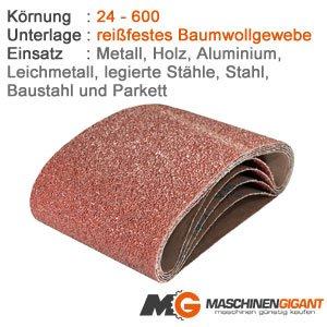 3 Gewebe Schleifbänder für Metall, Holz, Lack 100 x 915 mm Korn 320, Made in Germany