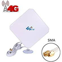 4G LTE Antenna Dual Mimo 35dBi High Gain Network Ethernet Outdoor Antenna Signal Receiver Booster Amplifier for Wifi Router Mobile Broadband (SMA)