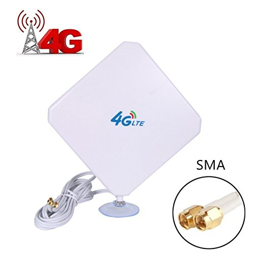 SMA 4G Hochleistungs LTE Antenne 35dBi Netzwerk Ethernet Verstärker-Antenne Richtantenne Signalverstärker Verstärker für Huawei B5935 B683 B686 B310 B315 E5172E5175 E5186 EB890 (Vakuum-verstärker)