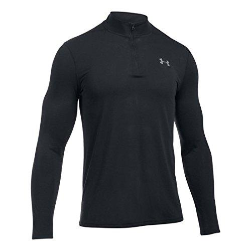 Under Armour HeatGear Threadborne 1/4 Zip Trainingsshirt Herren Black/Graphite