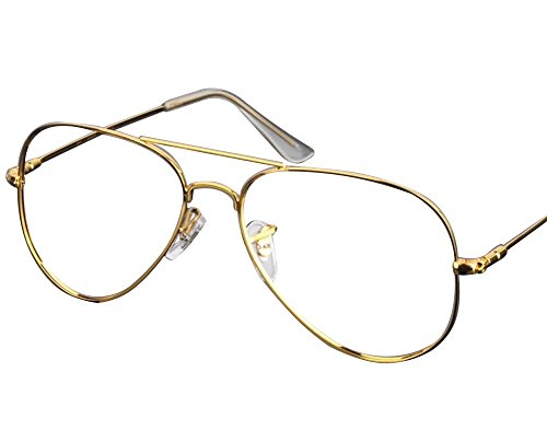 Gold-Titan-flex, flexibel, groß, Aviator 3025 optische Brillengestell Rx