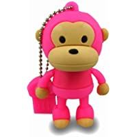 Prime No7700040016 Hi-Speed 2.0 USB-Sticks 16GB Lustiger Affe rosa