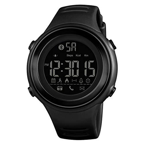 Happy-day Herren Smartwatch Wasserdicht Fitness Schrittzähler Bluetooth Digital Smartwatch Sport Armbanduhr S Siehe Abbildung (Tommy Hilfiger Watch Orange)