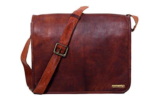 Alle Größen handgefertigte Vintage Leder Messenger Laptop-Tasche, handgefertigte Handwerk voller Flap Ledertasche - kostenlose Überraschung Geschenk