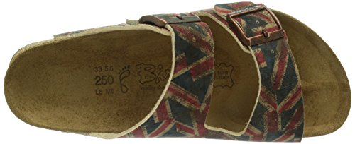 Birki's Arizona, Arizona mixte adulte Rouge - Rot (Velvet Union Jack)