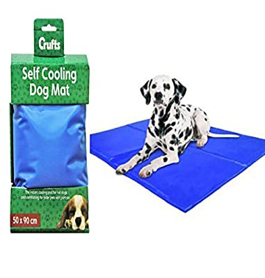 Crufts 50 X 90CM LARGE PET DOG CAT SELF COOLING MAT MATTRESS HEAT RELIEF NON-TOXIC from PMS