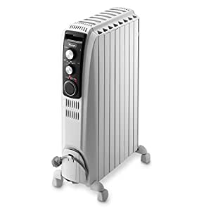De'Longhi Dragon 4 Oil Filled Radiator with Timer, 2 KW - White