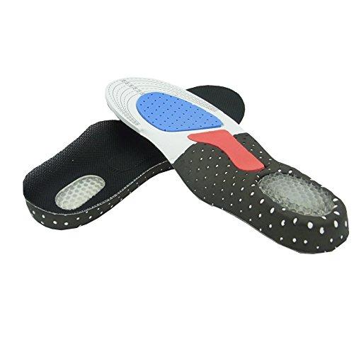 Sienoc Schuheinlagen Fußbett Gel Einlegesohle orthopädische Schuh Einlagen Gr. 40-46