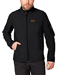Jack Wolfskin Herren Softshelljacke Muddy Pass XT Jacket, Black, L, 1302472-6001004