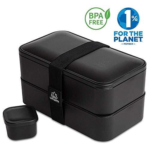 UMAMI® ⭐ Lunch Box Negra Mate | Bento Box Con 2