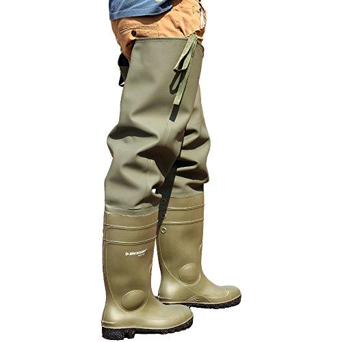 Dunlop Thigh Wader 142 VP PP - Stivali di Gomma - Uomo Green