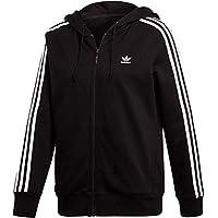 Adidas 3Str Zip Chaqueta, Mujer, Negro, 40