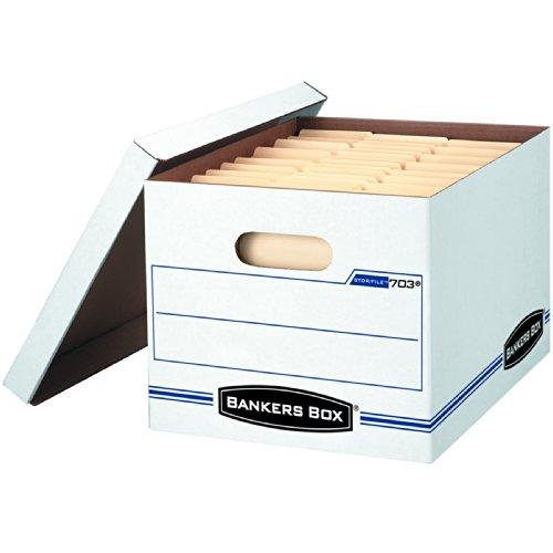 ei Aufbewahrungsbox mit Lift-off Deckel, Letter/Legal, 30,5x 25,4x 38,1cm 4er-Packung weiß / blau (Datei-boxen Mit Deckel)
