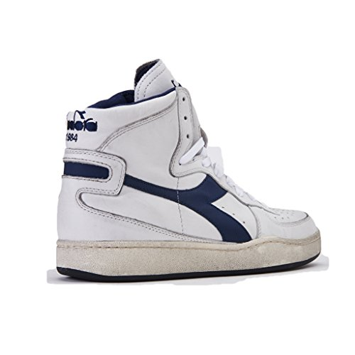 Diadora Heritage Herren High Sneaker Mi Basket Used 158569 Bianco ... df11081b8f