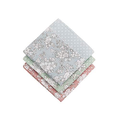 HOULIFE Taschentücher für Damen, 100{354ae8d1405e17a109881adf89543ea42110a79171dcff17107d51652d775476} Baumwolle, 60er Jahre, Blumendruck, 45,7 x 45,7 cm - mehrfarbig - 18x18/45x45 cm