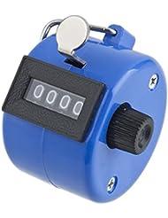 REPLAX contador Tally 4Digit azul mano Clicker para Palm Golf Club de contabilización de personas