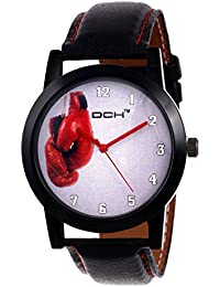 DCH IN-83 Black White Boxing Gloves Designed Analogue Wrist Watch For Men And Boys
