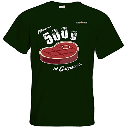 getshirts - SizzleBrothers Merchandise Shop - T-Shirt - SizzleBrothers - Grillen - Carpaccio Bottle Green