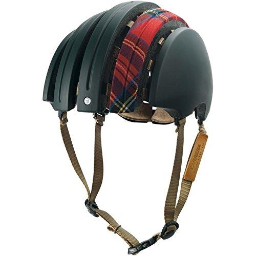 john-boultbee-jb-special-carrera-casque-de-velo-pliable-vert-motif-tartan-rouge-taille-m