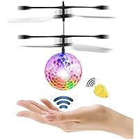 Diswoe Fliegende Spielzeug Crystal Blinkende LED RC Spielzeug Infrarot-Induktions-Helikopter für Kinder Classic Transparent mit Fernbedienung