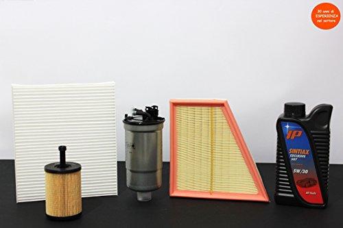 Preisvergleich Produktbild TECNECO 'Gutschein 4 Filter (aria-olio-abitacolo-carburante) + 5 Lt Öl Fuel Economy sehr hohe Leistung Longlife (garantiert für 30.000 km)
