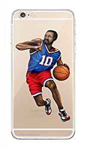 MiiCreations Printed Transparent Crystal Clear Silicon/Soft back cover for Apple Iphone 6,Basketball Player