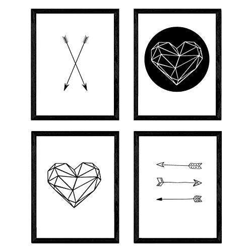Nacnic Set 4 láminas enmarcar Formas geométricas