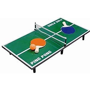 Mini Tischtennisplatte 60×30 cm – komplett mit Tischtennisschläger, Netz und Ball