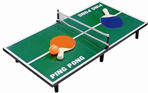 Mini Tischtennisplatte 60x30 cm - komplett mit Tischtennisschläger, Netz und Ball