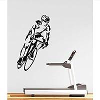 Wall Sticker Vinyl Applique Sports Bike Race Cycling