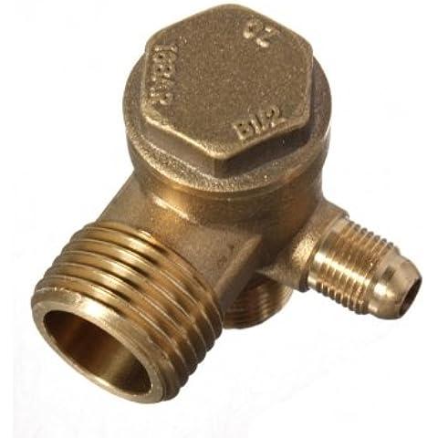 Tanzimarket - De alta calidad de latón roscada macho Herramienta de comprobación de válvulas para Compresor de Aire