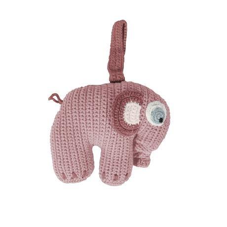 'Sebra ganchillo de parte Reloj, elefante, color rosa color rosa niña