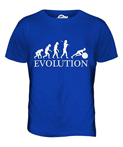 CandyMix Gymnastikball Schweizer Kugel Evolution Des Menschen Herren T Shirt Königsblau
