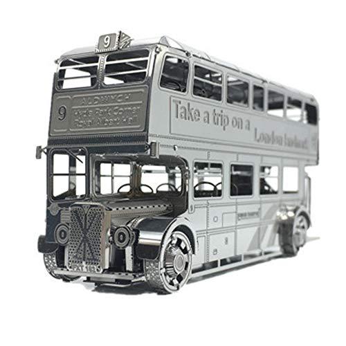 MQKZ London Bus 3D dreidimensionales Metall Kinder Puzzle Montage Modell DIY 3D Laser geschnitten Puzzle Spielzeug London Bus one Size