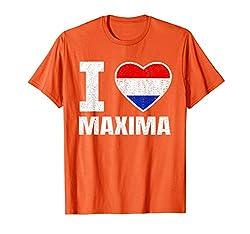 Königstag-Holland-Holländer-Löwe-Orange Ich liebe Maxima T-Shirt