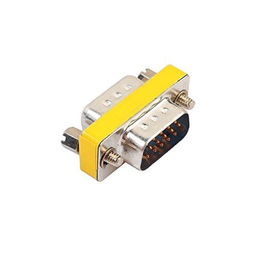 Db15-mini Gender Changer (Cikuso DB15 Mini Adapter Fuer Gender Changer RS232 Com D-Sub auf Stecker VGA-Steckverbinder 15 15pol)