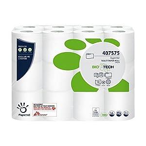 Papernet Selbstauflösendes Toilettenpapier Bio Tech 2-lagig 24 Rollen für Camping u. Boot